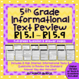 5th Grade Informational Text Review (RI5.1 - RI5.9) | Dist