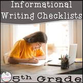 5th Grade Informational Writing Checklist