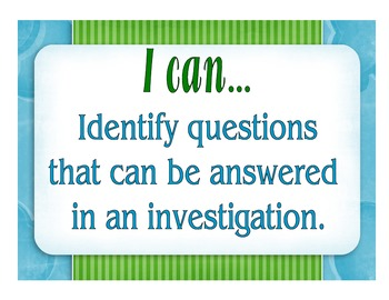 5th Grade Inquiry I Can Statements