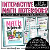 Math Interactive Notebook 5th Grade BUNDLE | Digital & Printable | Google Slides