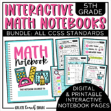 Math Interactive Notebook 5th Grade BUNDLE