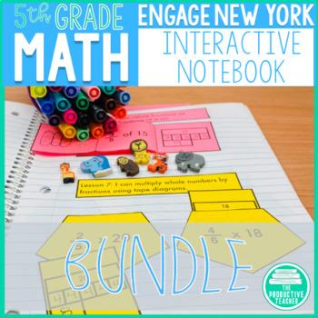 Engage New York Math Aligned Interactive Notebook: Grade 5, Year Bundle