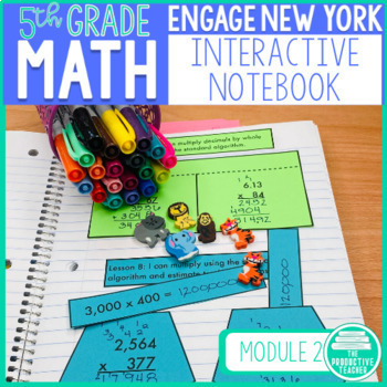5th Grade Math Engage New York Aligned Interactive Notebook: Module 2