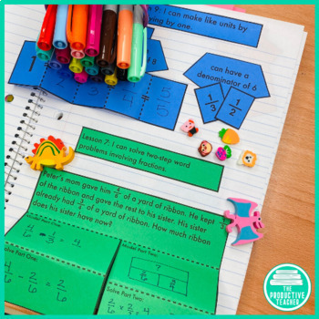 5th Grade Math Engage New York Aligned Interactive Notebook: Module 3