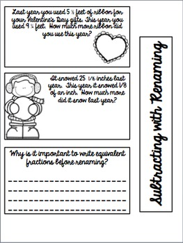 5th Grade Interactive Math Notebook - Fraction Addition & Subtraction