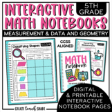 Math Interactive Notebook 5th Grade Measurement & Data and