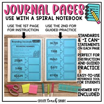 Interactive Math Notebook 5th Grade OA and NBT