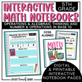 Math Interactive Notebook 5th Grade OA and NBT