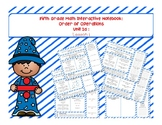 5th Grade Interactive Math Notebook - Order of Operations Unit: Lesson 1
