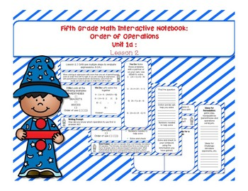 5th Grade Interactive Math Notebook - Order of Operations Unit: Lesson 2