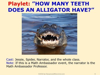 5th Grade Interactive Math Playlet: Alligators