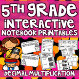 5th Grade Interactive Notebook - Multiplying Decimals