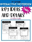 5th Grade Interactive Notebook Tabs - RL Key Ideas