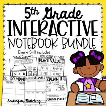 5th Grade Interactive Notebook - Place Value {5.NBT Growing Bundle}