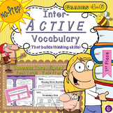 5th Grade Interactive Vocabulary Task Cards Quiz Printable
