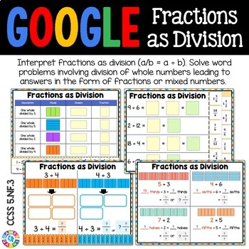 5th Grade Interpret Fractions as Division {5.NF.3} - Google Classroom