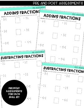 5th Grade Intervention Program : Adding and Subtracting Fractions Unit