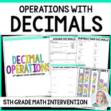 5th Grade Intervention Program : Decimal Operations Unit