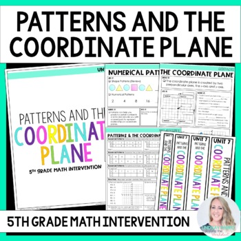 5th Grade Intervention Program : Patterns and The Coordinate Plane Unit