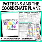 5th Grade Intervention Program : Patterns and The Coordina