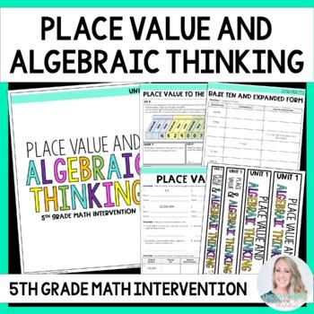 5th Grade Intervention Program : Place Value and Algebraic Thinking Unit