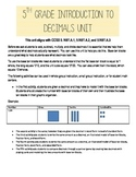 5th Grade Introduction to Decimals Unit