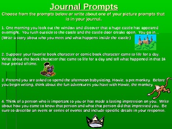 5th Grade Journal Prompts