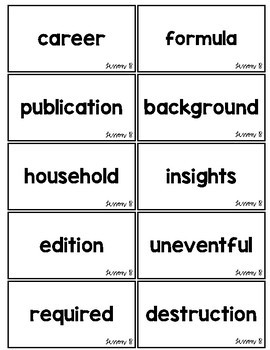 5th Grade Journey's Unit 4: Heads Up Vocabulary Game Cards
