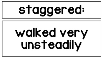 5th Grade Journey's Units 1-5 Vocabulary Words and Definitions Cards, BUNDLE!