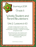 5th Grade Journeys, Unit 2 Weekly Newsletters