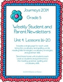 5th Grade Journeys, Unit 4 Weekly Newsletters