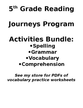 5th Grade Journeys Bundle