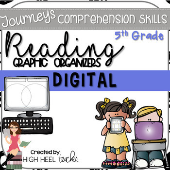 5th Grade Journeys Digital Graphic Organizers for the Paperless Classroom