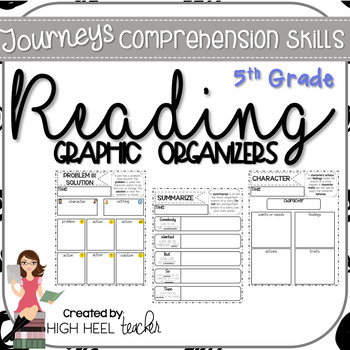 5th Grade Journeys Reading Skills Graphic Organizers