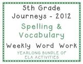 5th Grade Journeys 2012 Spelling Vocabulary Activities Yea