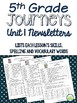 5th Grade Journeys Unit 1 BUNDLE of Resources