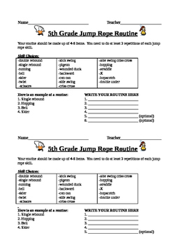 5th Grade Jump Rope Unit