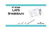 5th Grade LAFS Breakdown