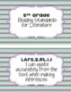 5th Grade LAFS I Can Statements
