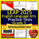5th Grade LEAP 2025 Test Prep - Practice Tests - English Language Arts