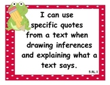 5th Grade Language Arts CCSS I Can Statements - Frog Theme