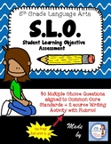5th Grade Language Arts SLO (Student Learning Objective) Assessment