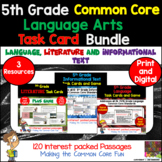 5th Grade Language Arts Task Card Bundle