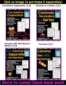 5th Grade Language Arts and Grammar BUNDLE