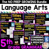 Fifth Grade Language Arts Worksheets and Grammar BUNDLE Di