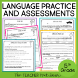 5th Grade Language Assessments and Practice Pages | Grammar for 5th Grade