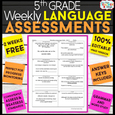 5th Grade Language Assessments | 2 Weeks FREE