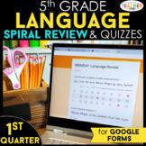 5th Grade Language Spiral Review Google Classroom Distance