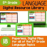 5th Grade Language Standards Digital Resource Library