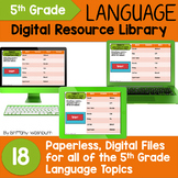 5th Grade Language Standards Digital Resource Library